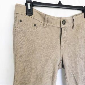 Express tan snakeskin print pants S